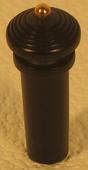 bouton ébène avec boule en or