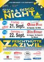 Flyer Bar & Disco Night Zäziwil 2018