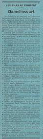 """Article tiré de l'hebdomadaire """"Les Ailes"""" 1er Décembre 1921"""