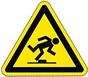 Verkehrsschild Unfall als Hinweis auf Sicherheit im Haushalt bei der Huntington-Krankheit / Chorea Huntington