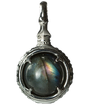 烏羽 -KARASUBA-   Labradorite Power stone Pendant Necklace