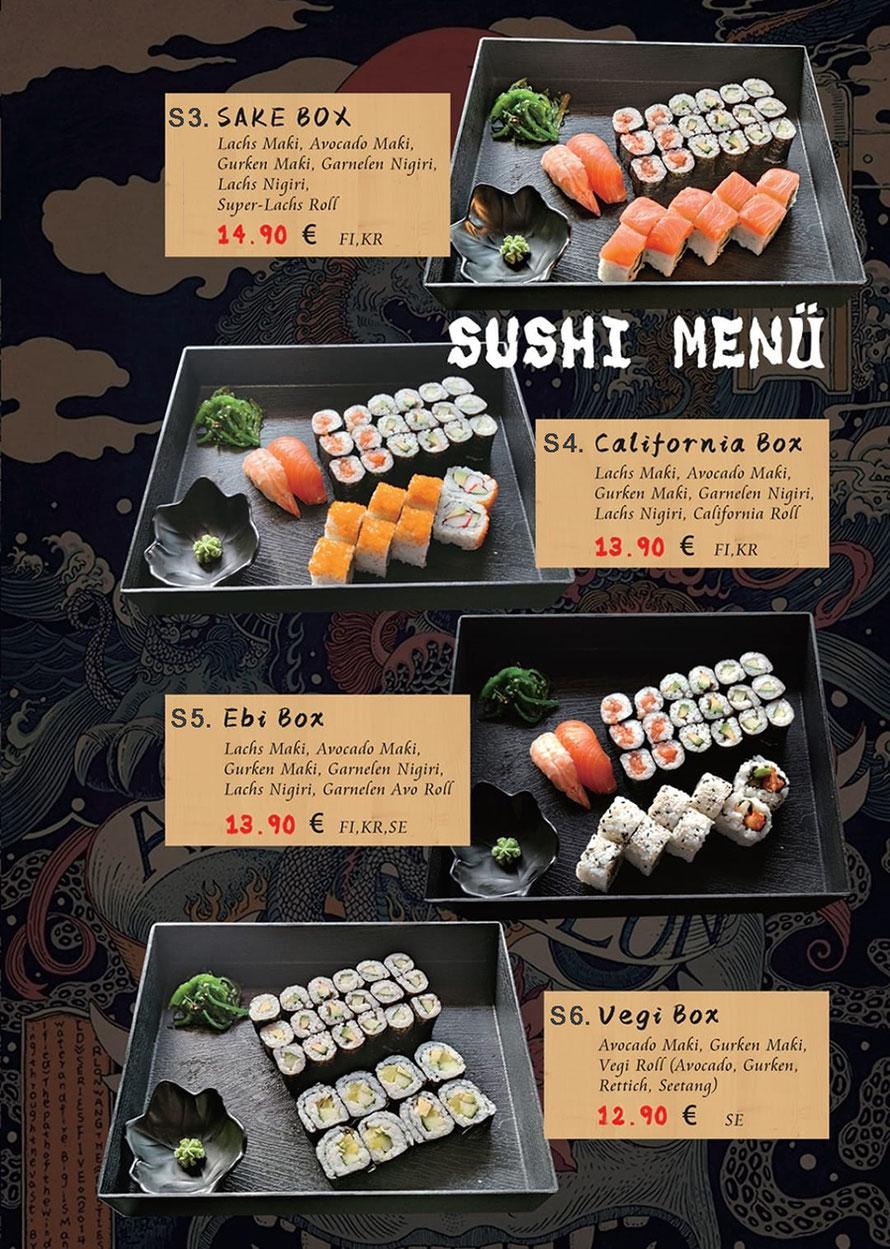Sushi Box und Vegi Box