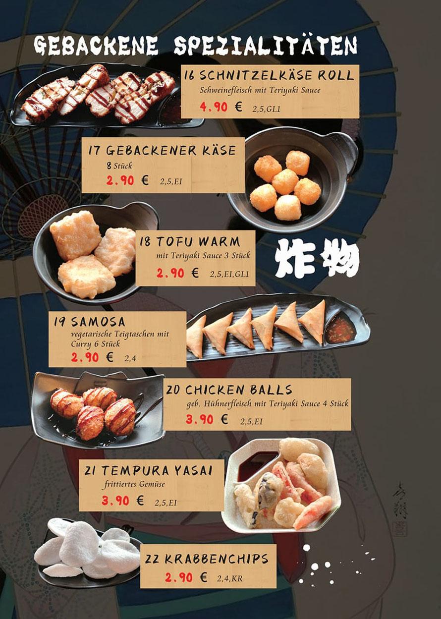 Speisekarte Sakura Lörrach: asiatische Spezialitäten