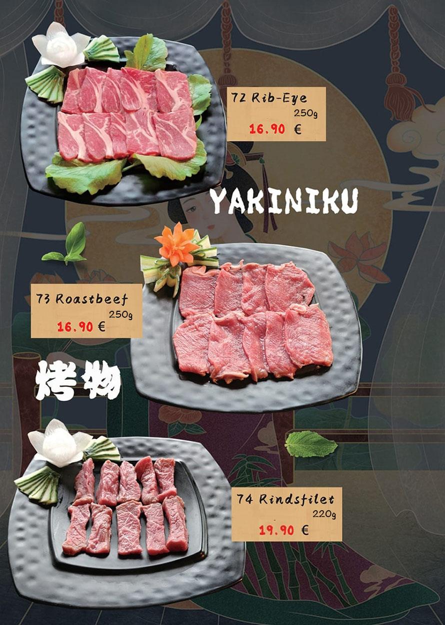 Yakiniku zum Grillen