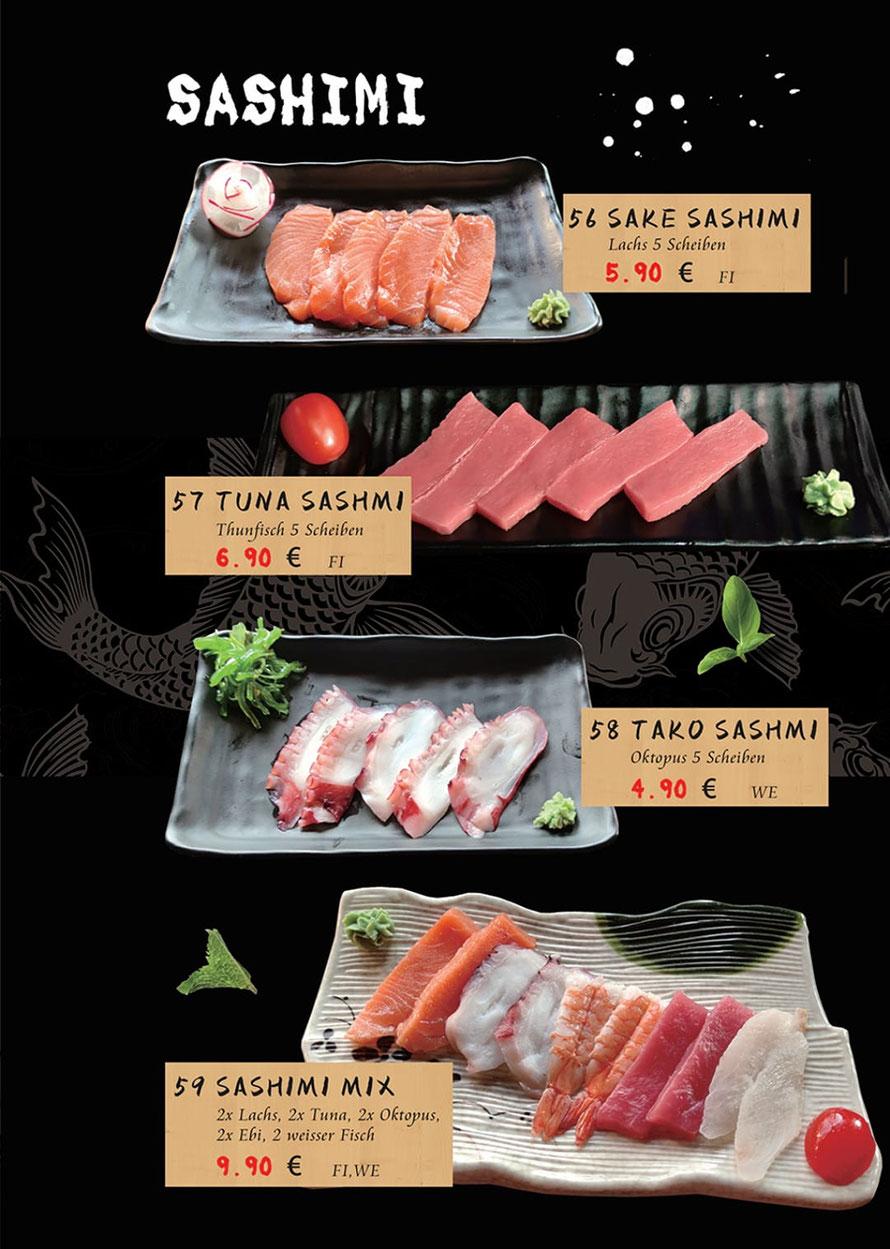 Speisekarte Sakura Lörrach: Sashimi
