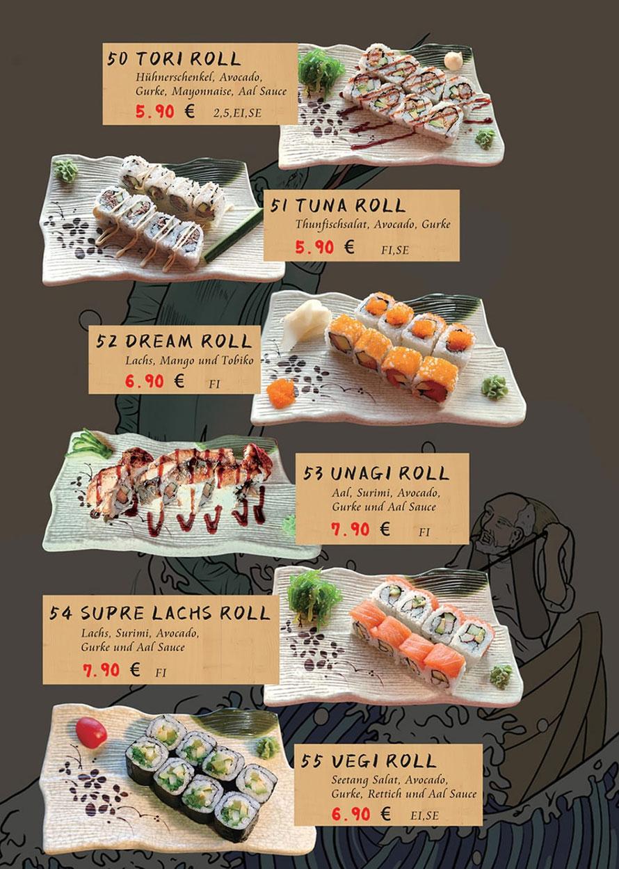 Speisekarte Sakura Lörrach: japanische Rolls