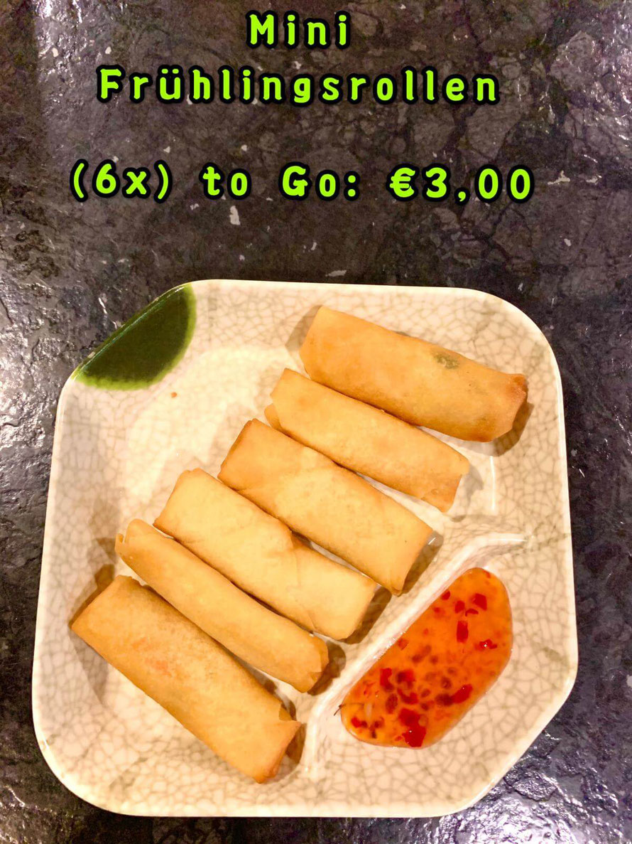 Extra: 6x Frühlingsrolle to Go    € 3,00