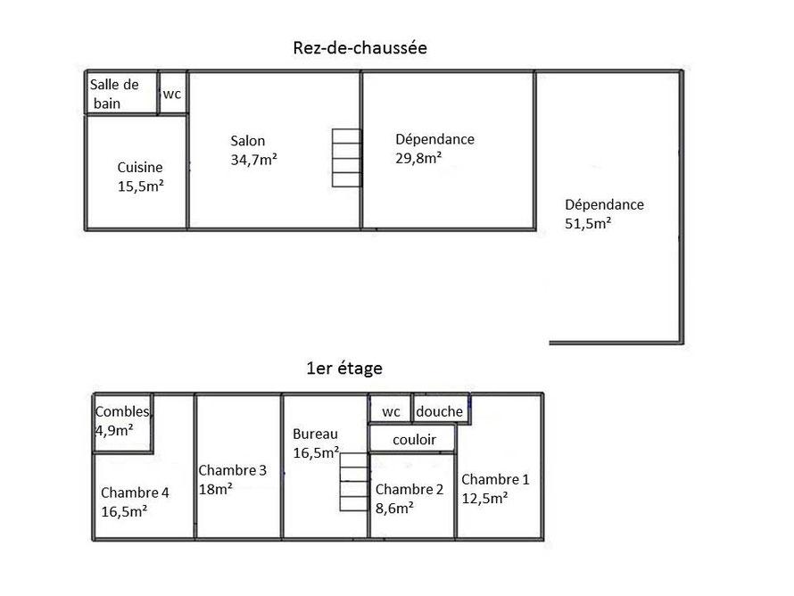 a vendre maison 140m 2280m cote saint andr 249 000 la cote saint andr agence immobili re. Black Bedroom Furniture Sets. Home Design Ideas