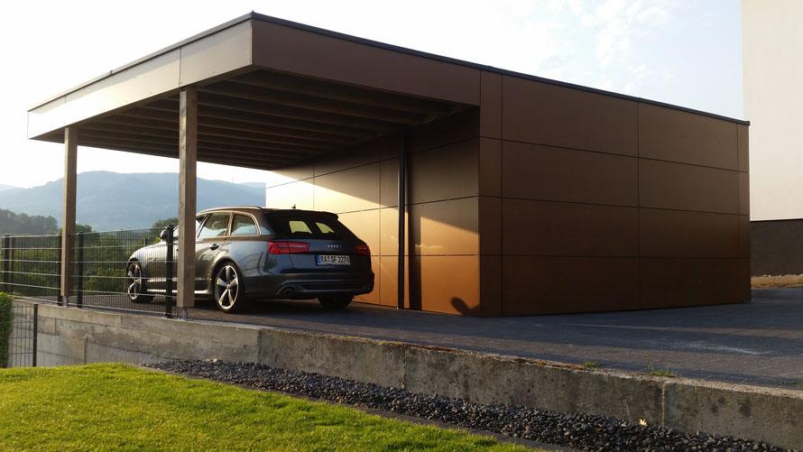 Garagen Design carports und garagen sk holzbau