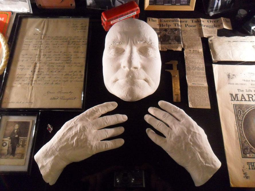 Totenmaske von Albert Pierrepoint Englands bekanntestem Henker. Sammlung Robert C. Marley