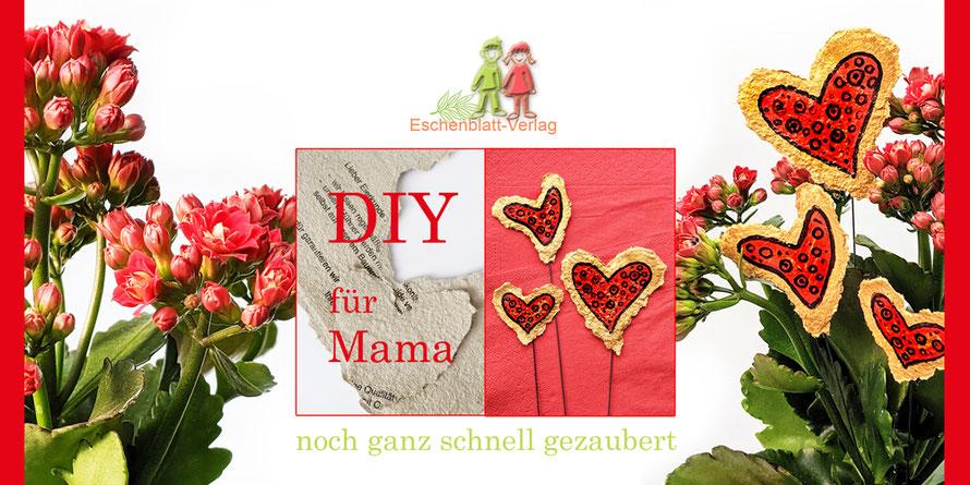 DIY aus glatten Deckeln eines Eierkartons. #Mutter- oder Vatertag