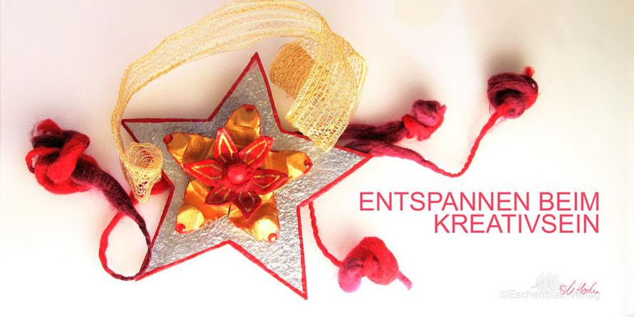 Weihnachtssterne, Basteln, Eierkartons, Geschenk, Christbaumschmuck, Kinder, Familie
