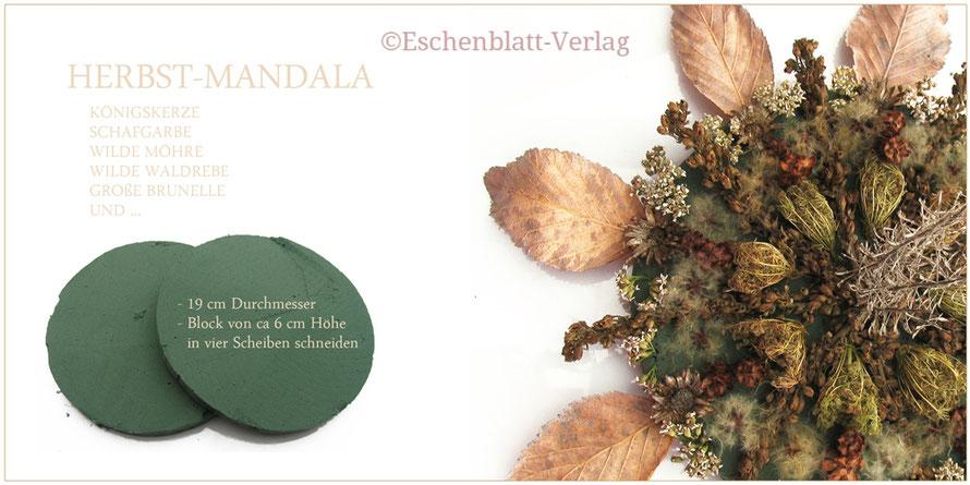 Mit Kindern ein Herbst-Mandala gestalten.