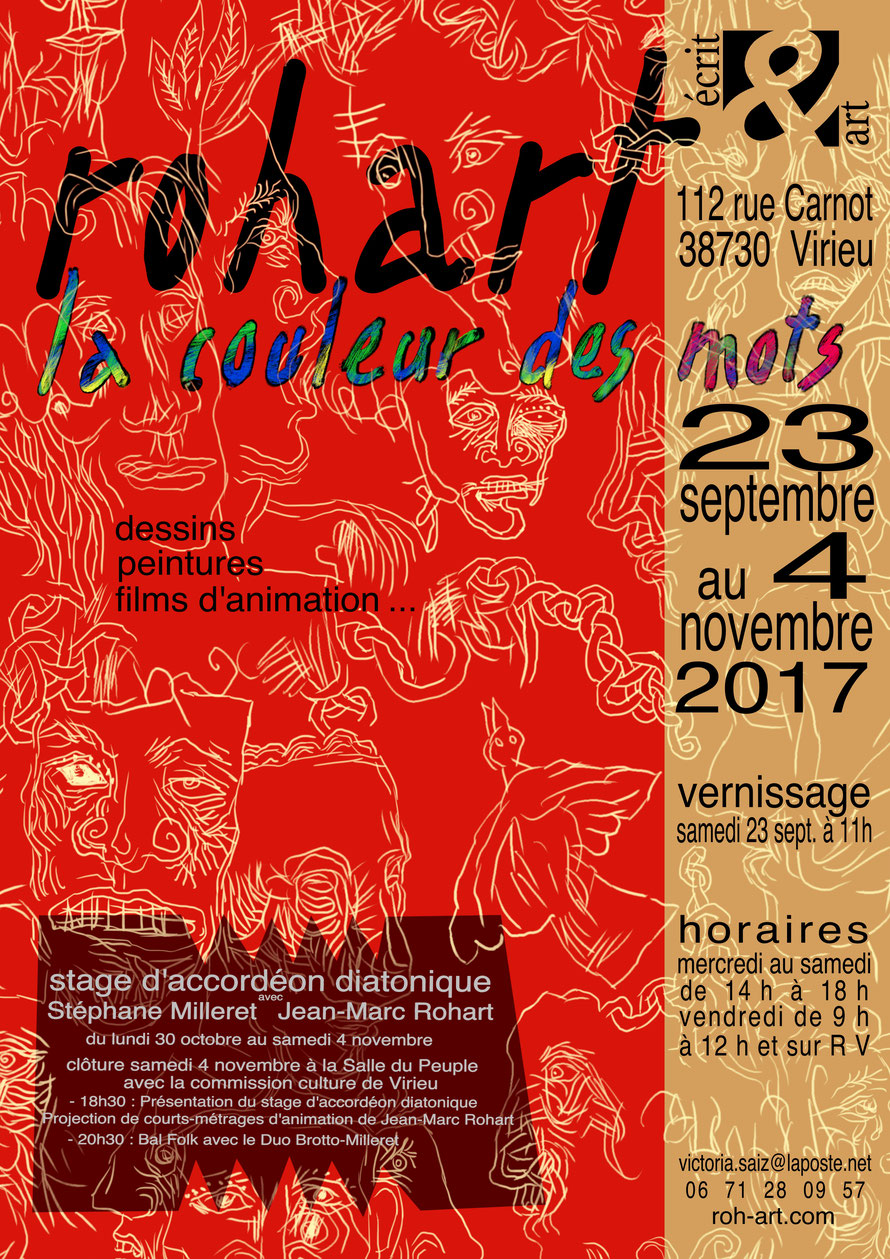 exposition peintures jean-marc rohart stage accordéon diatonique stéphane milleret