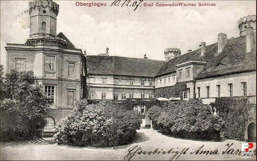 Schloss Oberglogau nach dem Umbau im Tudor-Still um die Jahrhundertwende