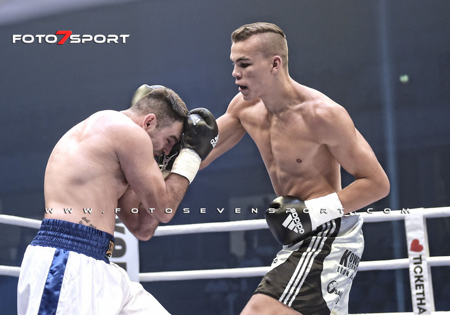 International Professional Boxing Event in Dresden 05.09.2015 - Leon Bauer (Germany) vs. Darko Knezevic (Serbia)