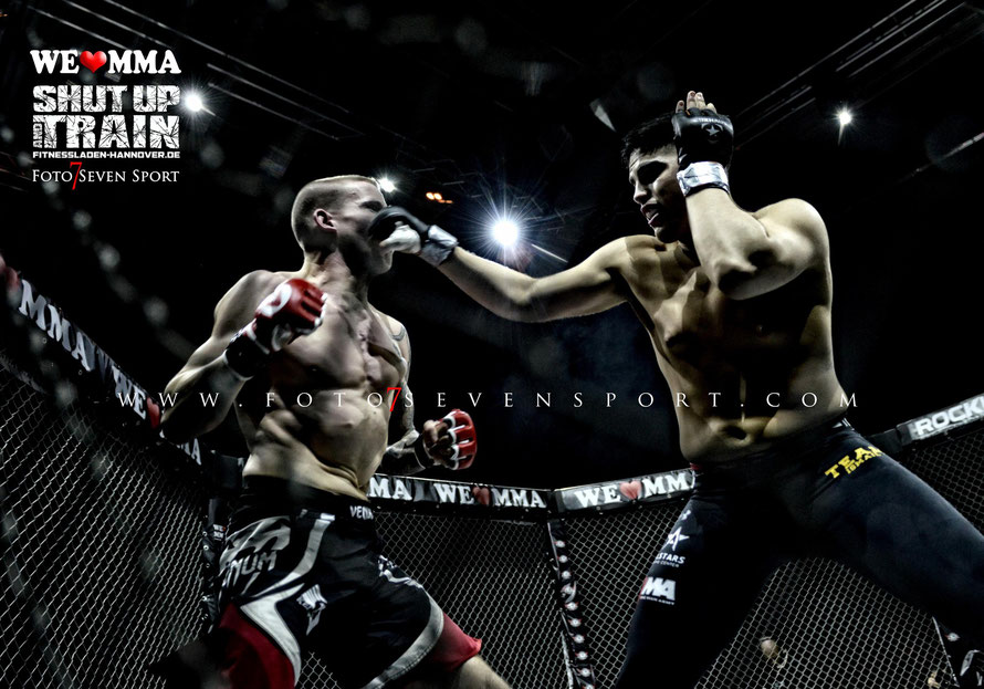 Patrick Schwellnus Kenpokan Hannover vs Nasrat Haqparast Mixed Fight Hamburg