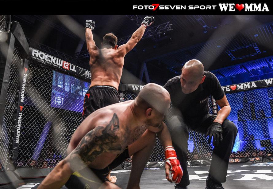 Dustin Stoltzfus (Frankers Fight Team) vs. Eugen Weber durch Kneebar (Shuri Fight Gym)