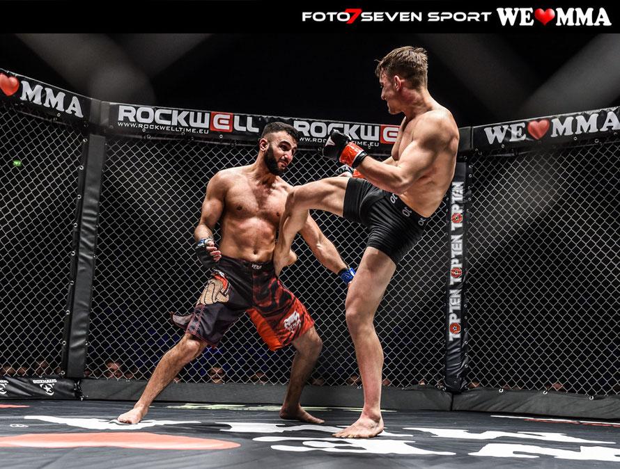 Mehmet Ece (Combat Club Cologne) vs. Kenji Bortoluzzi (BudyGym Schweiz)