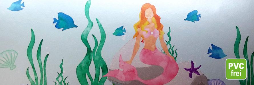 Metallic Bordüre mit Perlmutteffekt: Meerjungfrau