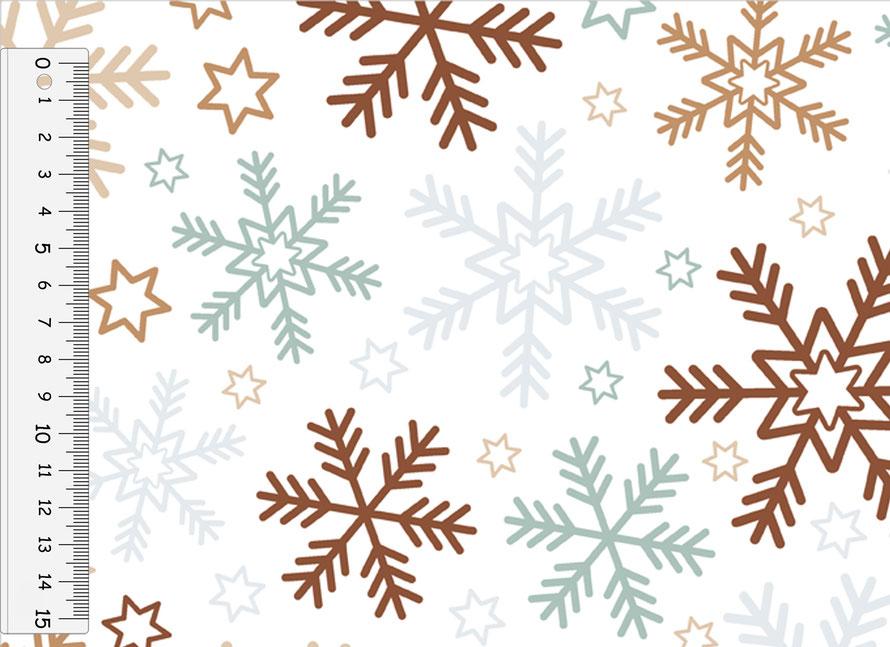 nachhaltiges Geschenkpapier: Schneesterne - hergestellt aus recycelten Papieren