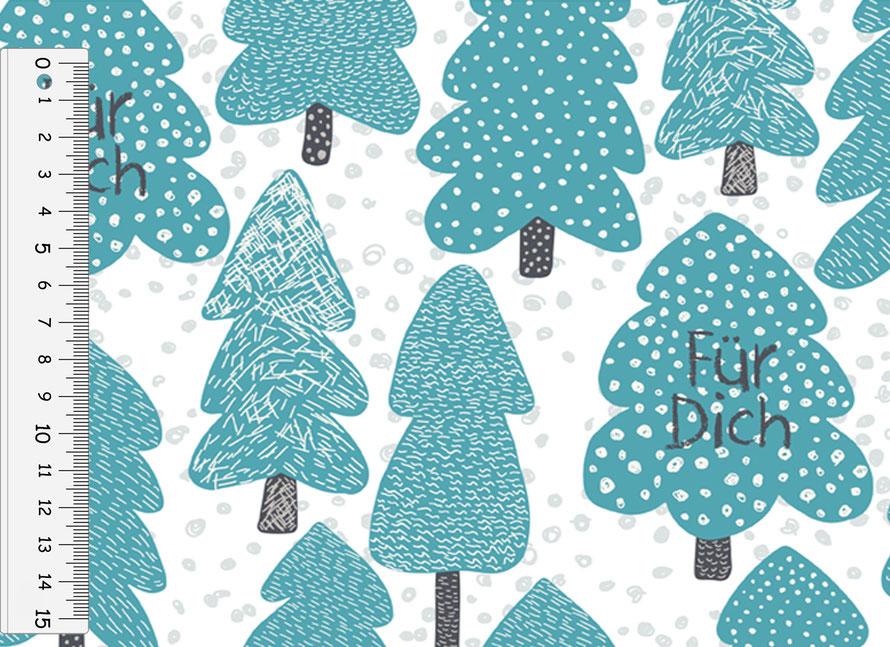 nachhaltiges Geschenkpapier: Nadelbäume - hergestellt aus recycelten Papieren