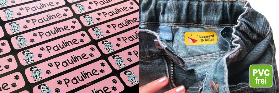 Bügeletiketten von www.meinaufkleberladen24.com