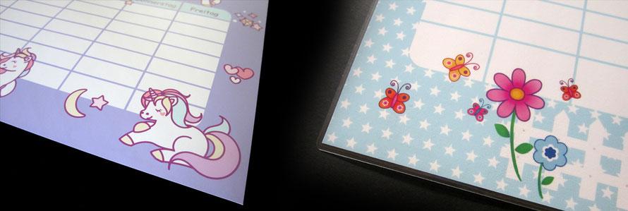 Stundenpläne und Lernposter für Kinder von www.meinaufkleberladen24.com