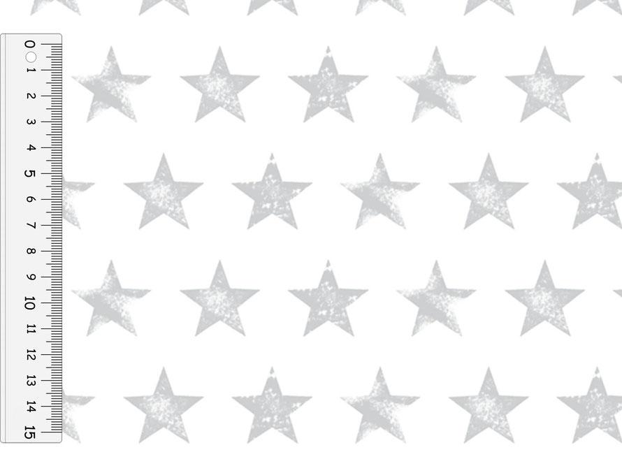 nachhaltiges Geschenkpapier: Sterne grau - hergestellt aus recycelten Papieren