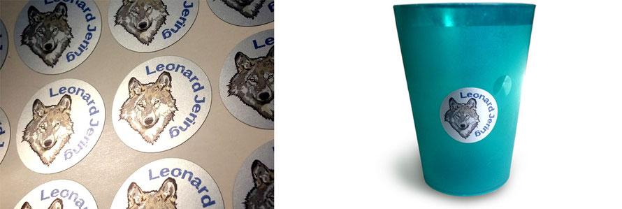 liebevoll gestaltete Namensaufkleber für Kinder - gedruckt auf Metallicfolie, personalisierbar, ungiftige Farbstoffe