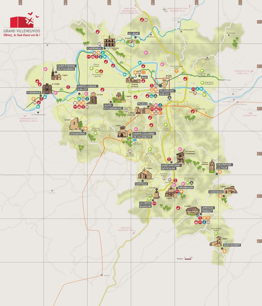 villeneuve sur lot area map