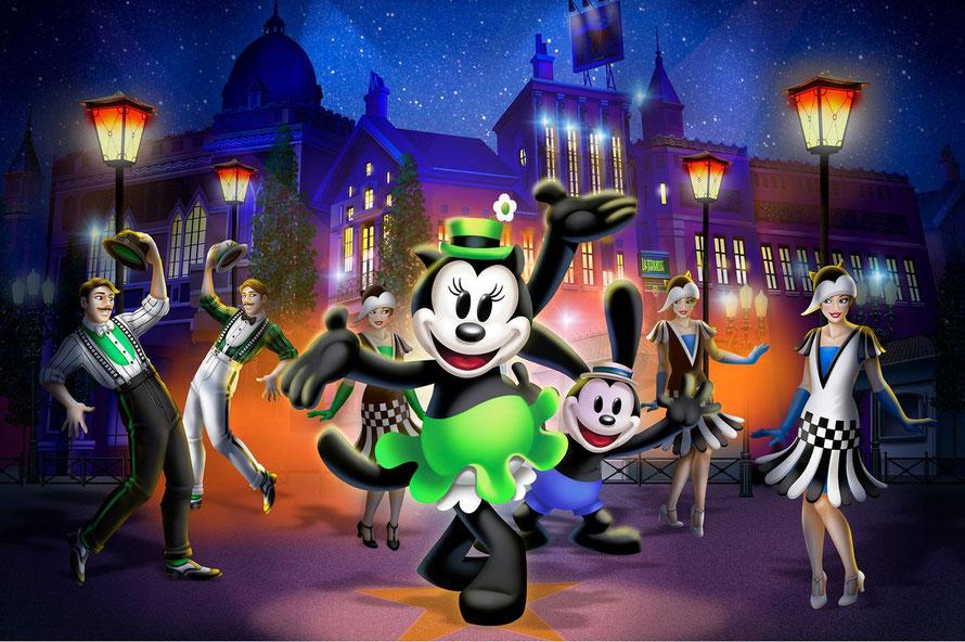 La première apparition d'Ortensia dans l'histoire des Parcs Disney !