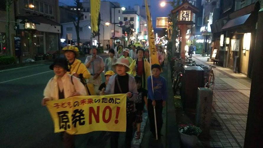 2016年5月20日、長野市内での脱原発金曜行動は200回に