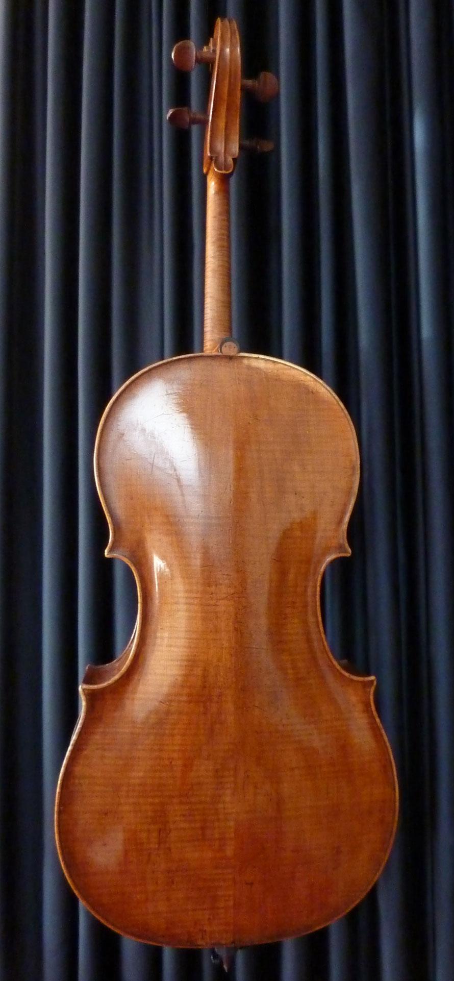 Violoncello, ca. 1750, angeschäftet, Erbauer unbekannt, Boden