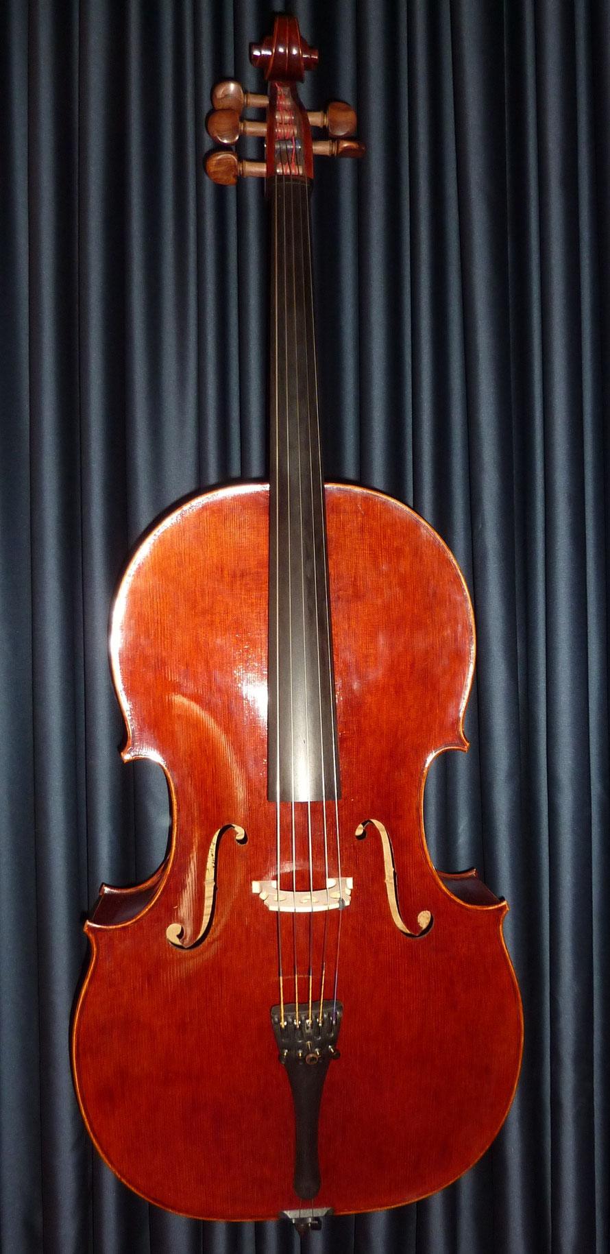 Violoncello, fünfsaitig, Henryk Kaletta, fecit Karlsruhe 2005, Decke