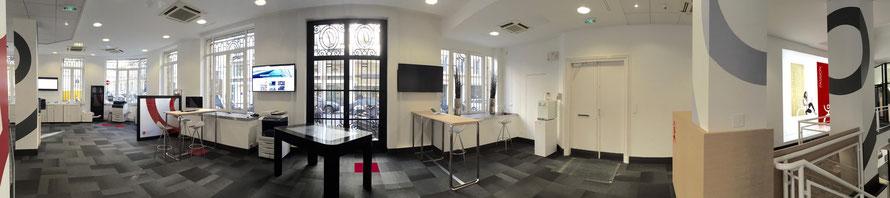 décoration, peinture, électricité, toile lumineuse led, menuiserie sur mesure, espace détente, espace café dans l'entreprise à Paris