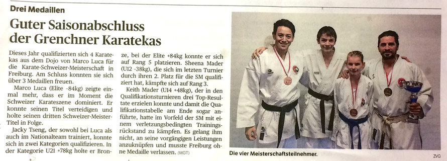 Grenchner Tagblatt vom 11.12.2014