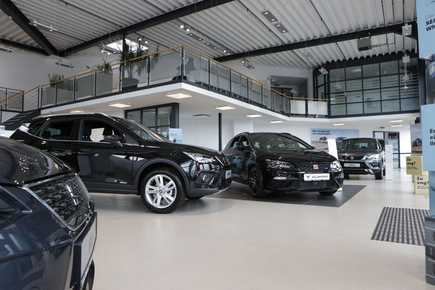 Schauraum und Verkaufshalle des Autohauses Fischer in Celle