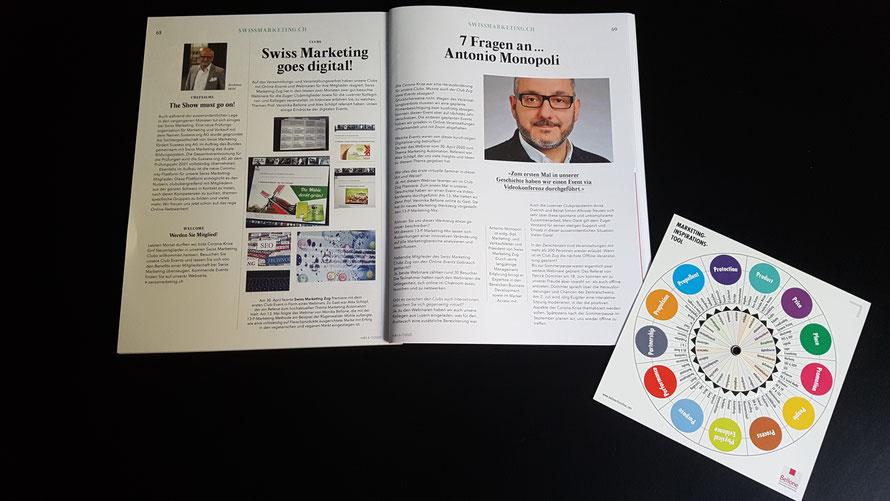 Artikel in der Fachzeitschrift «m&k» Marketing & Kommunikation zum Event © Bellone Franchise Consulting GmbH, Zug/CH