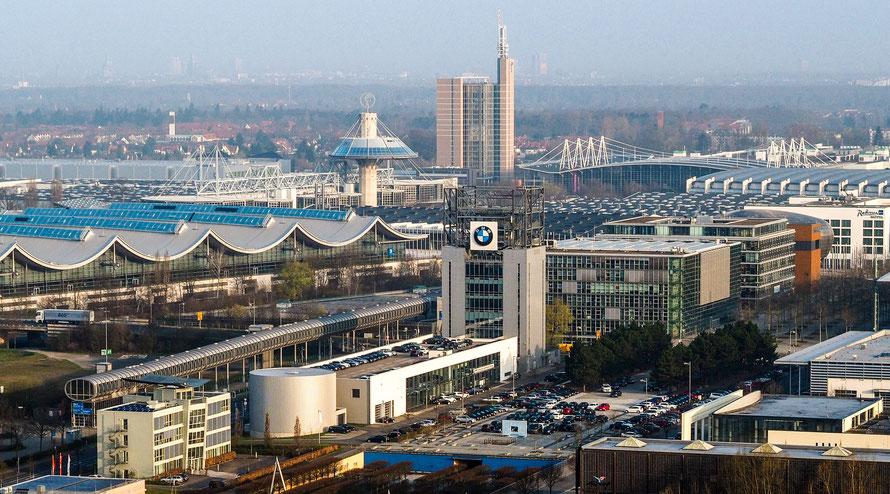 Luftaufnahme vom Messegelände Hannover