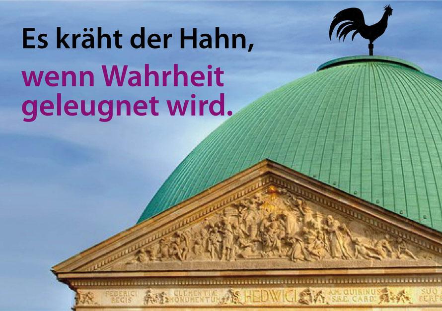 Dass das Erzbistum Berlin die Entfernung beabsichtigte, ist im offiziellen Antrag auf denkmalrechtliche Genehmigung nachweisbar.
