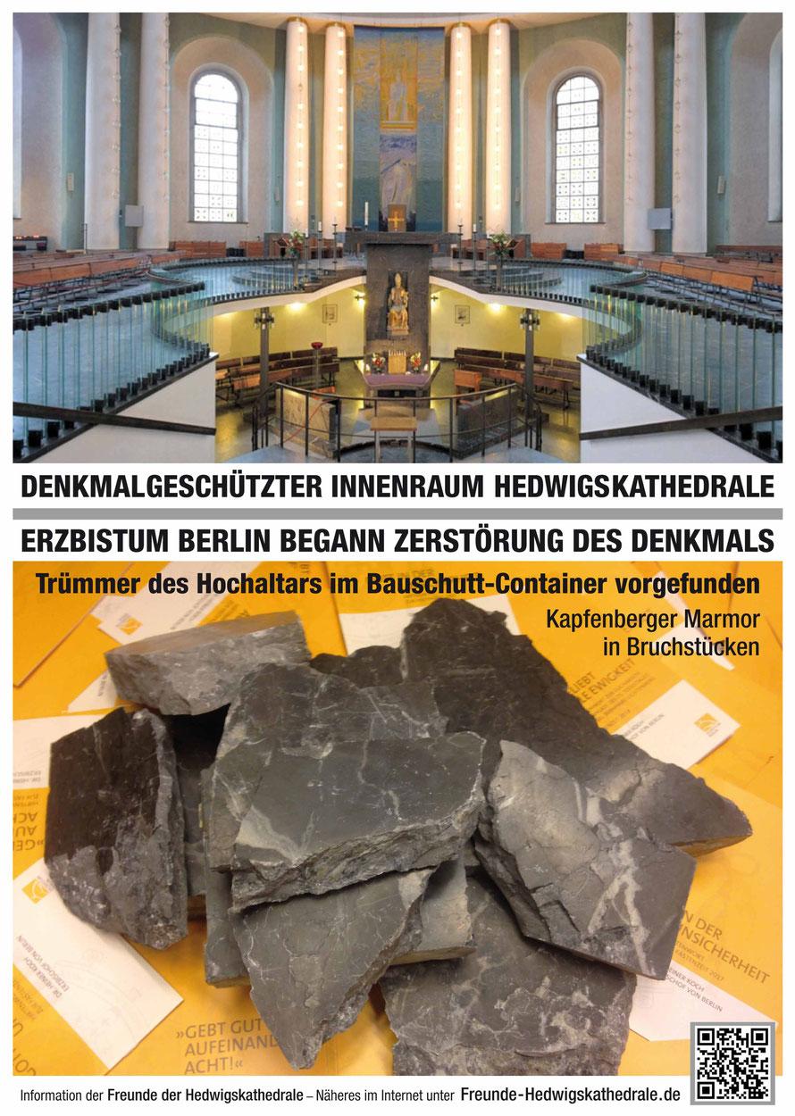 Erzbischof Koch versperrt seit Monaten grundlos für Gläubige, Hoffende und Suchende den Zugangs zur Berliner Hedwigskathedrale.