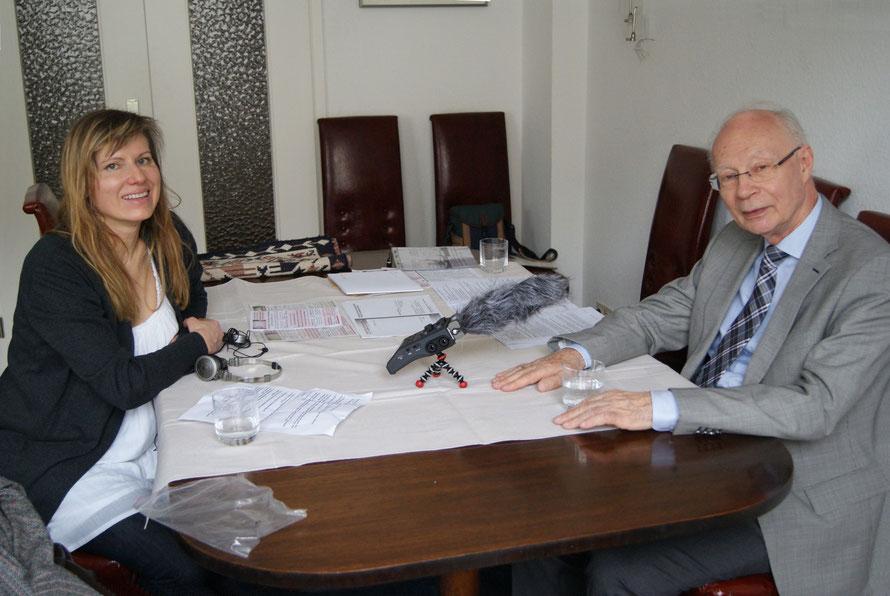 Carmen Gräf (rbb) im Interview mit Prof. Dr. Hans Joachim Meyer zur Bedeutung und Zukunft der St. Hedwigs-Kathedrale zu Berlin