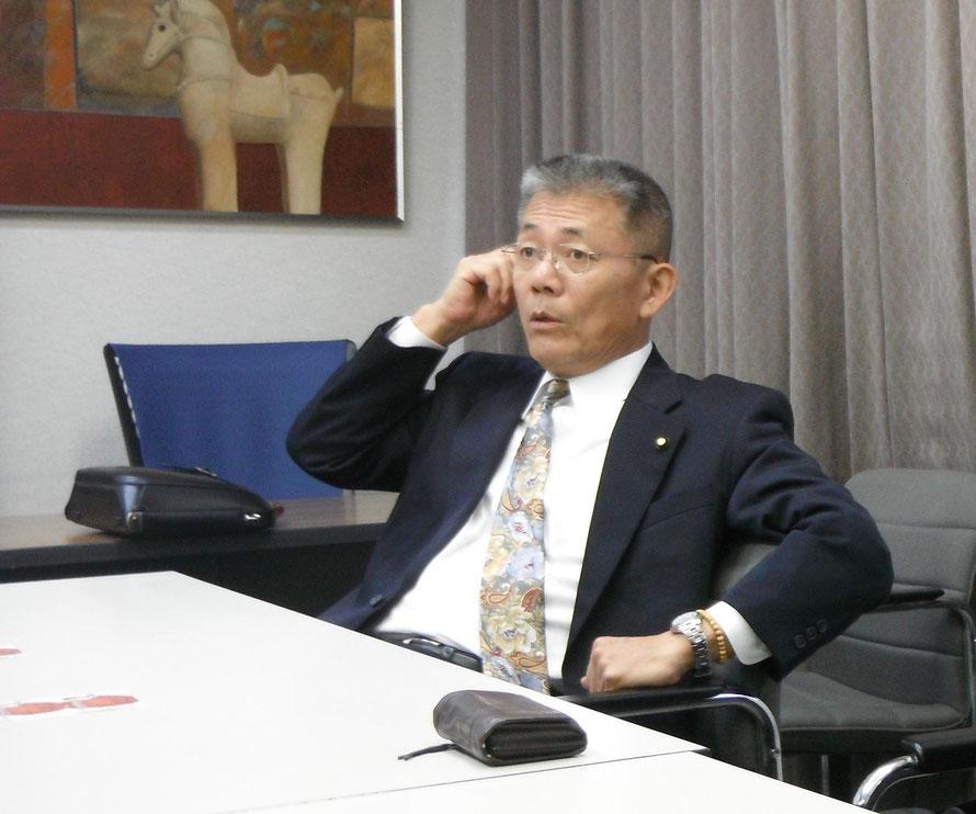 大山崎商工会 蔦谷重直会長(2015年度おとくにしんぶん7月号 理事長対談)