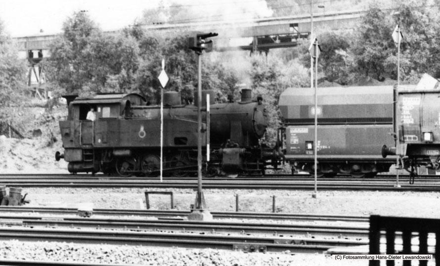 Rangierbetrieb auf Grubenbahnhof Reden mit Lok 34, Henschel, Bj. 1947, Fabr.-Nr.29892