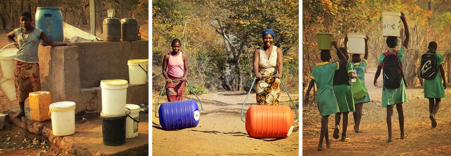Jafuta Foundation - Community - Water access improvement - Hippo rollers - Zimbabwe
