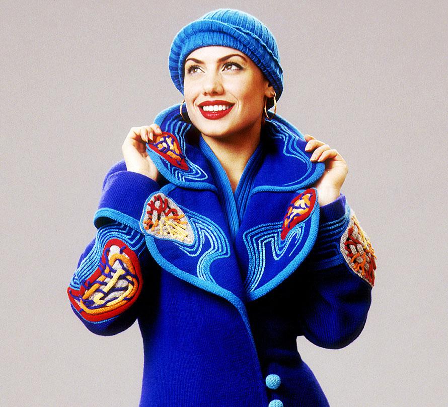 """Alexander Seraphim's knitwear, """"Prussian Blue"""", 1996"""