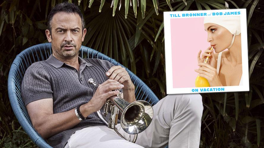 "Till Brönner bei den Aufnahmen zum Album ""On Vacation"". (c) Sony Entertainment / Gregor Hohenberg, Till Brönner"