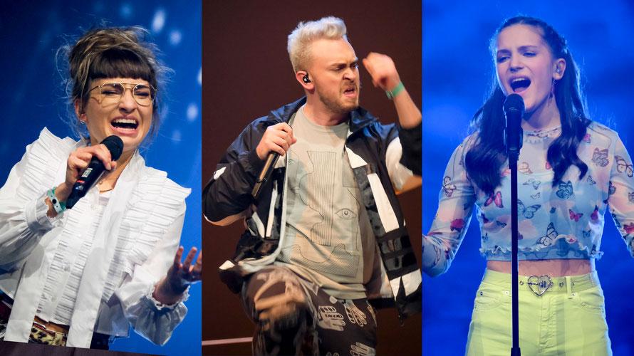 Anna Buchegger, Marco Prinner und Allegra Tinnefeld konnten die Jury überzeugen. (c) ORF / Hans Leitner