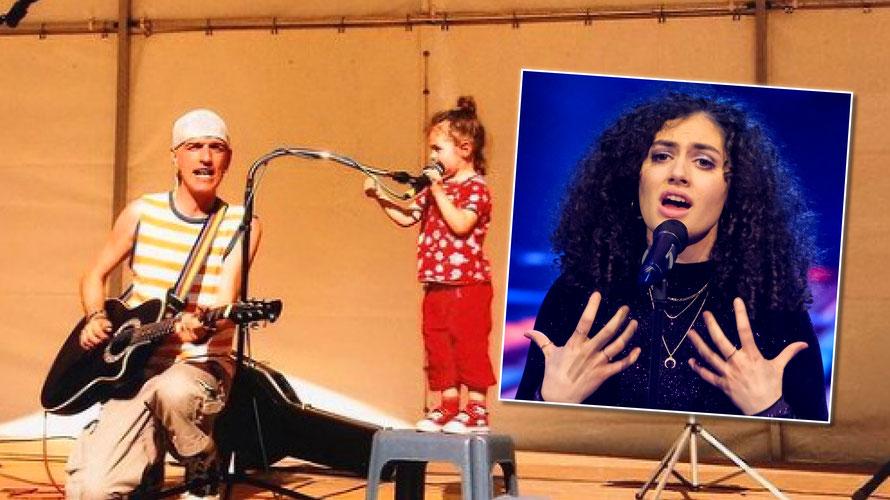 Mit Musiker Bernhard Fibich stand Julia bereits in jungen Jahren auf der Bühne. (c) ORF / Hans Leitner, Instagram/julia_novo_